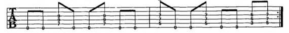 ритмы с басом на открытой струне