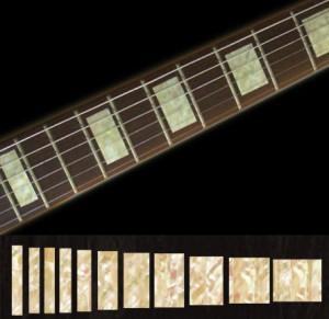Хочу привести Вам пару примеров наклеек для гитары. В магазине существуют наклейки либо на гриф, либо на деку