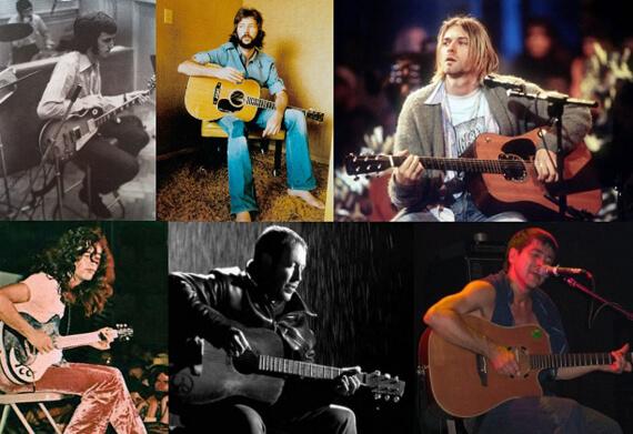 Различные посадки гитаристов
