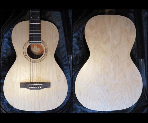Задняя и передняя деки гитары Norman SG