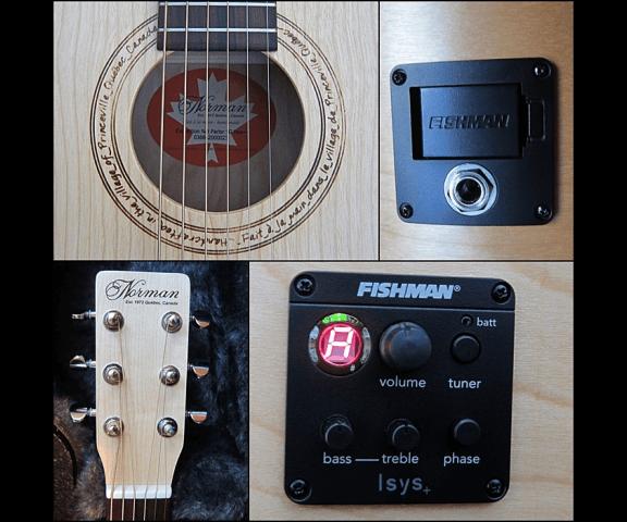 Головка грифа и электроника гитары Norman SG