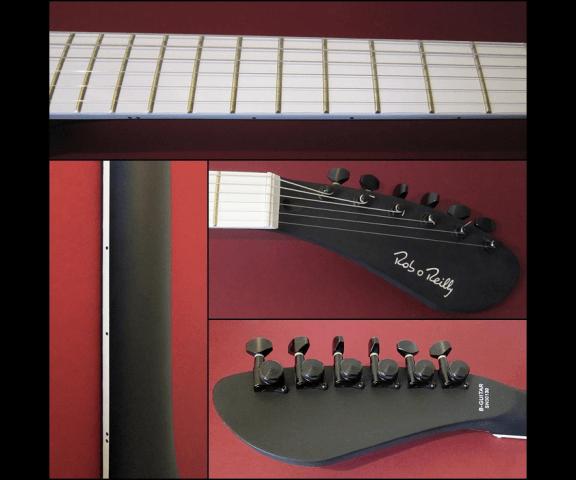 Прозрачная дека гитары