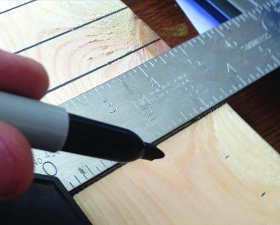Разметка ладов при изготовлении грифа гитары
