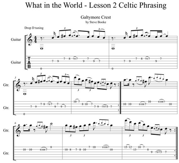 Табы кельтской музыки Galtymore Crest