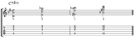Пример 2 для высоких струн
