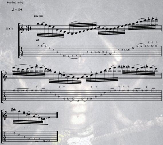 табы соло для электрогитары в стиле металл