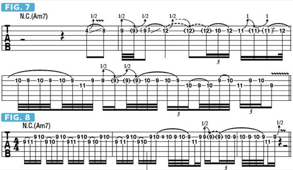 Бенды и вибрато в соло на электрогитаре