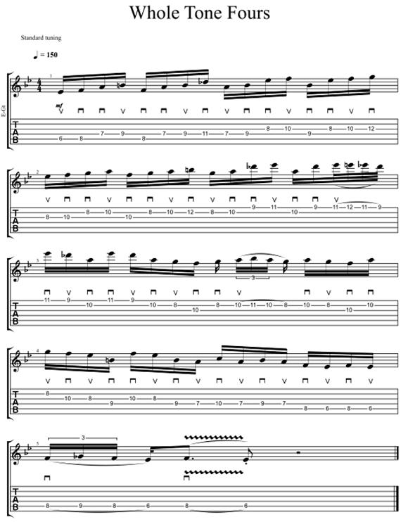 Сыграть пентатонику шестнадцатыми нотами