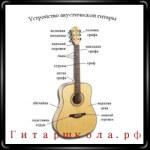 Устройство гитары и название ее основных деталей