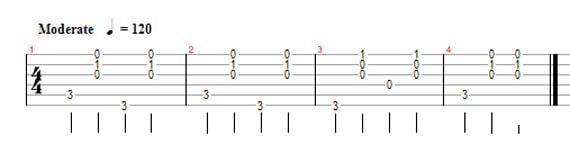 Как чередовать бас на гитаре