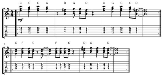Обращения на гитаре в стиле Кита Ричардса