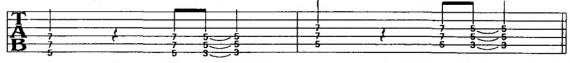 ритмы со слабыми долями на электрогитаре