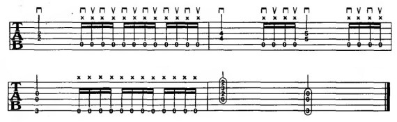 16-е ноты на электрогитаре