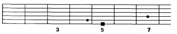 неполный А-мажорный аккорд (А5)