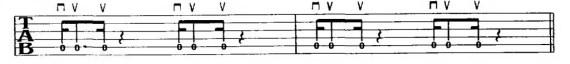 упражнения для электрогитары с шестнадцатыми нотами
