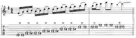 секвенция шестнадцатыми нотами