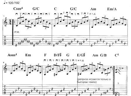 уроки арпеджио от Стива Морса на электрогитаре
