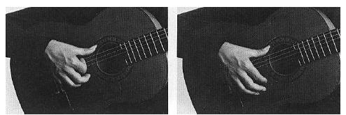 - Движение указательного пальца с опорой большого пальца в районе резонаторного отверстия.