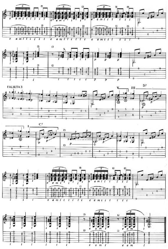 Разбор Soleares. Ноты и табулатуры для гитары