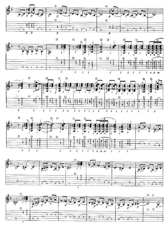 Гитарные ноты фламенко Bulerias