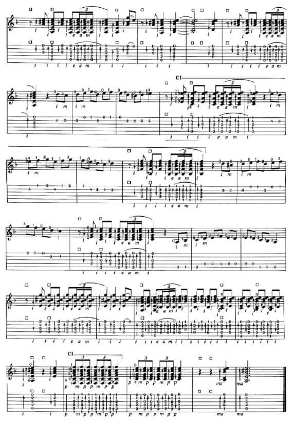 Ноты и табы для гитары фламенко