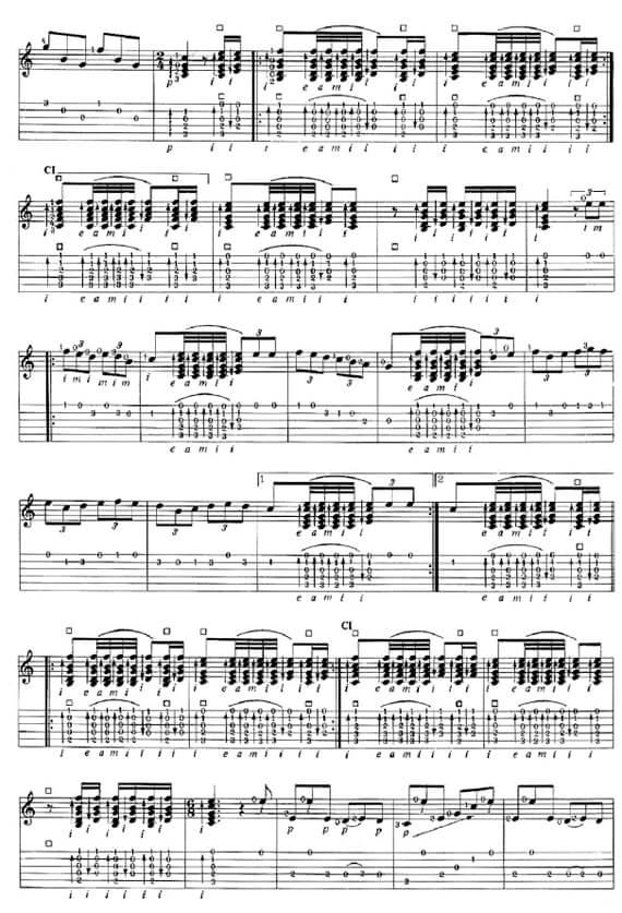 Разбор, ноты и табулатуры для гитары фламенко