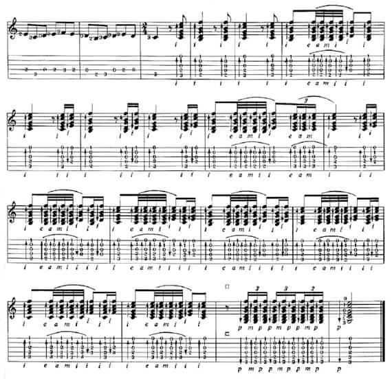 Бесплатные ноты фламенко для гитары