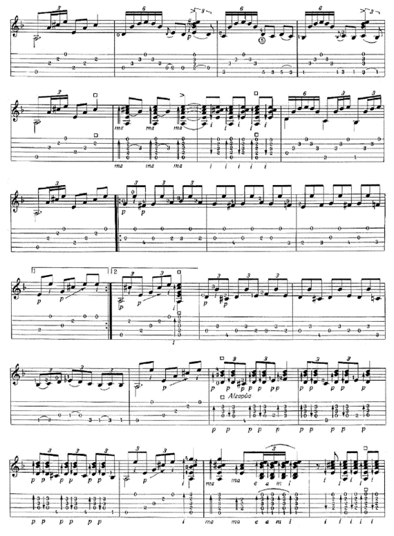 Оригинальные ноты фламенко Soleá por medio