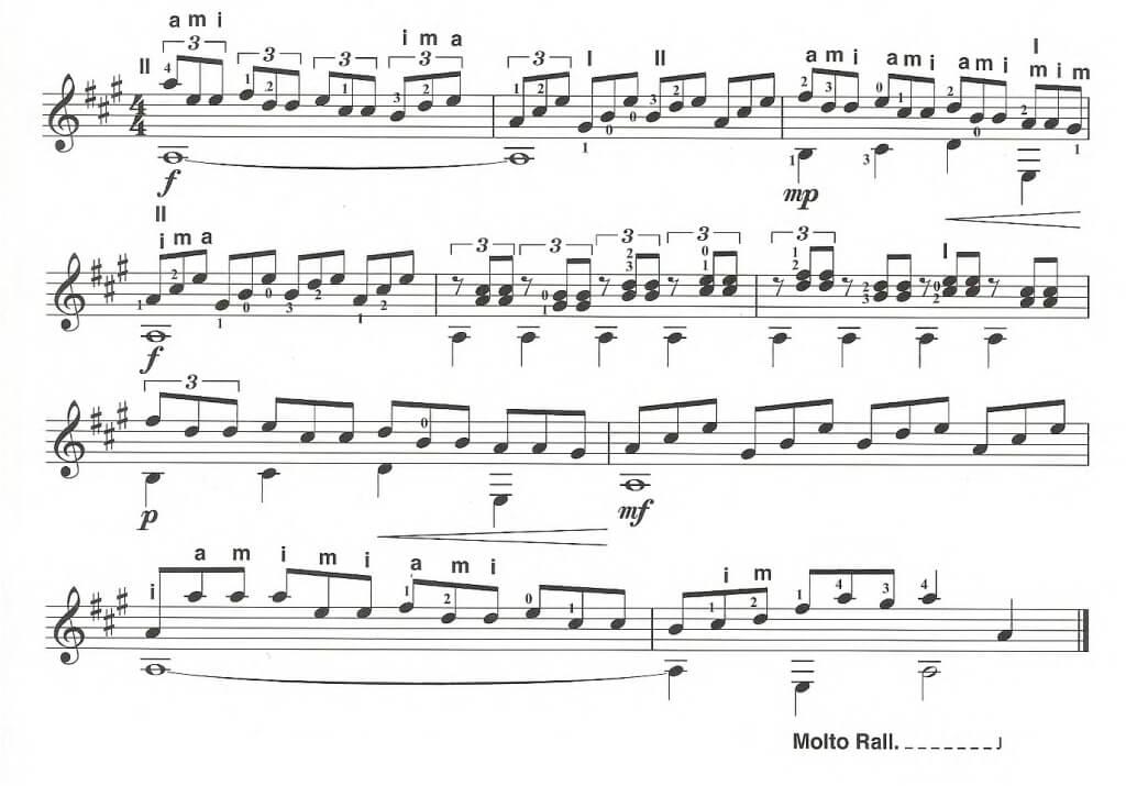 Триольное упражнение сложного ритма на акустической гитаре