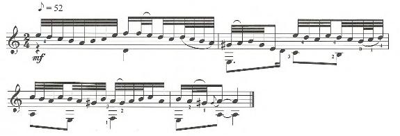 Тридцать вторые и шестьдесят четвертые ноты на классической гитаре
