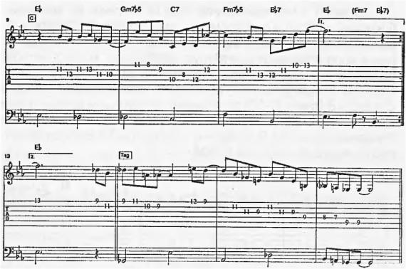 разбор, табы и ноты песни You Bet