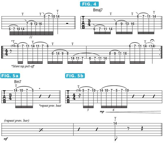 как играть арпеджио через струну