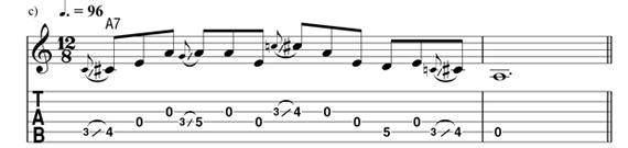 слайдовые фразы на гитаре