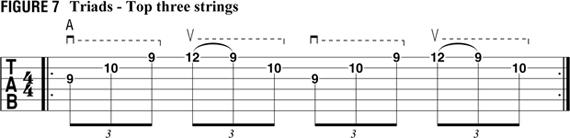 трезвучия – три верхние струны