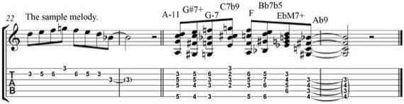 Пример гармонизованной мелодии
