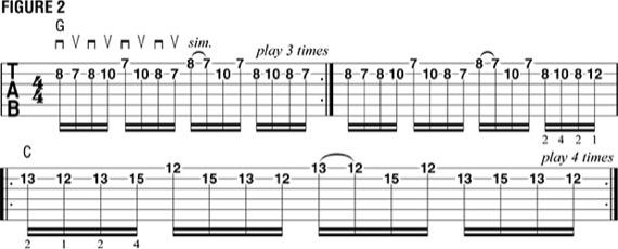 партия для металл-гитары