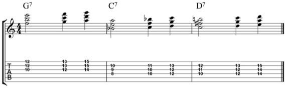 джазовые аккорды во второй позиции