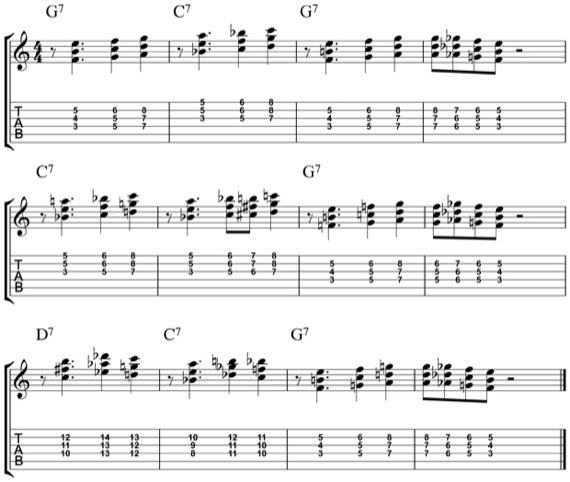 прогрессия джазовых аккордов