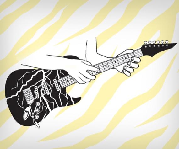 техники игры на гитаре для глэма