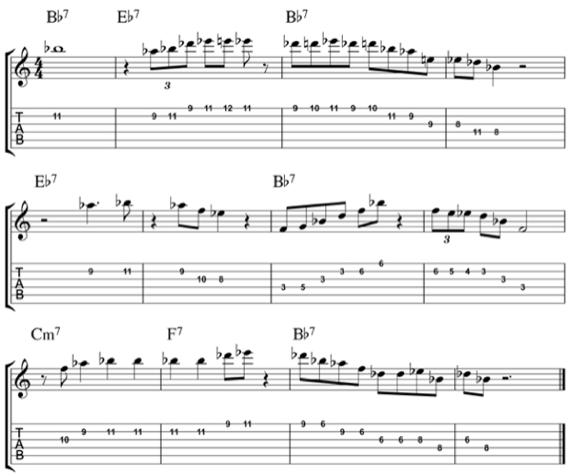 джазово-блюзовое соло Би Би Кинга