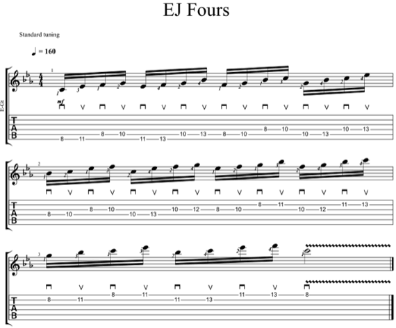 Играть пентатонику шестнадцатыми нотами