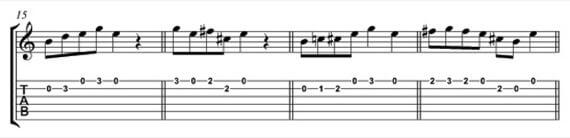 заменяем например ноту Е в мелодии