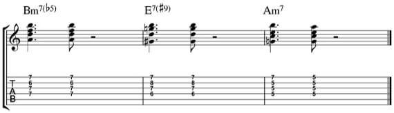 Использование аккордов Хендрикса