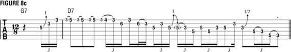 Фразы Стиви Рэя Вона с использованием бендов