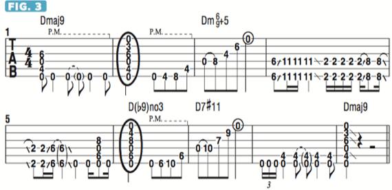 Пример использования необычных аккордов