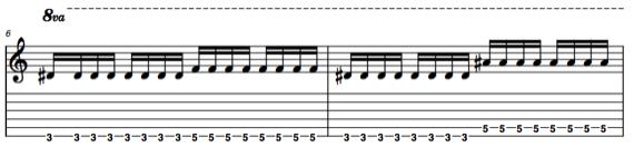 Ноты металических риффов для гитары