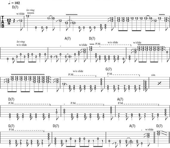 Пример гитарных уроков Роберта Джонсона