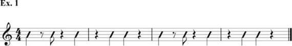 Стандартная схема ритма в фанке