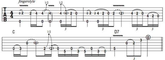 риффы Джимми Пейджа на акустической гитаре