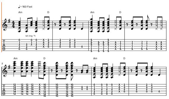 Ритм построенный на гармонии из двух аккордов